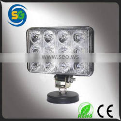 Cheap price square off road led work light truck led lighting, 36w led work light
