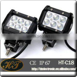 Hot Sale 18W LED Light Bar, 4 Inch 18W Cree Flood Beam Dual Row Work Light