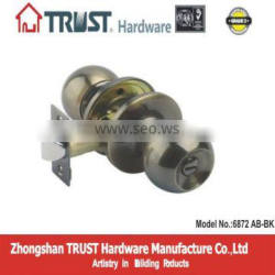 Grade 3 High Quality Tubular Bathroom Knob Lock