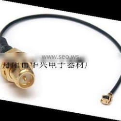 RP SMA bulkhead female to U.FL for 1.13 wifi cable pigtail