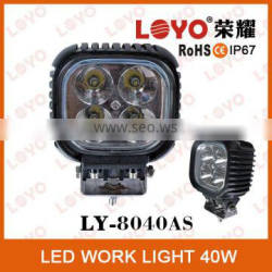 LOYO original 40w led work light off road led work lamp for cars atv suv trucks motorcycle 40w led work lamp
