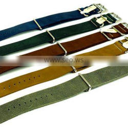 Excellent Quality Genuine Leather Nato Watch Straps