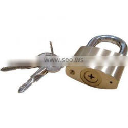Double Locking Mechanism cross key brass padlock