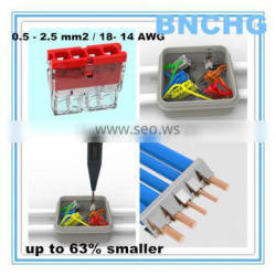 FREE Sample 2273 series wago 6 pin connector wire 63% smaller for junction box