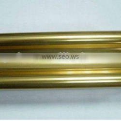 Polishing anodized gold aluminum profiles