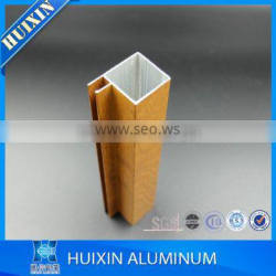 wooden grain aluminum aluminium profile for kitchen cabinet assembling