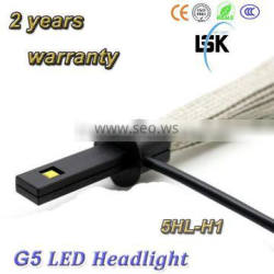 2 years warranty !!! 20W philip single beam g5 3000lm/2500lm all in one fanless h1 led headlight