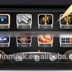 Double din 6.2'' universal car dvd player DK6533-D with newest Mirror-Link/3G/GPS/MSTAR2531 solution radio etc. features
