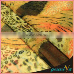 Custom Leopard Digital Printed 100% Polyester Fabric