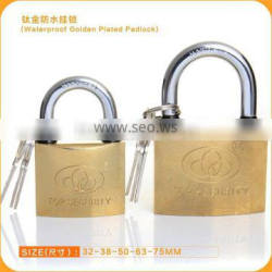 New Hot Sale Lowest Price Waterproof Titanium Plated Iron Padlock