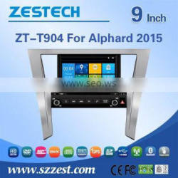 ZESTECH car dvd player For TOYOTA ALPHARD 2015 car DVD Player with GPS Bluetooth Steering Wheel Control