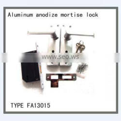 Aluminum anodize mortise lock