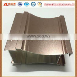 Champagne anodized aluminum extruded profile interior door