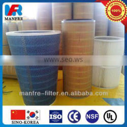 dust filter element with gasket for inlet dust filter