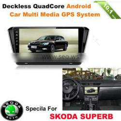 10.1inch Android car dvd radio multi media gps system for SKODA SUPERB with wifi,bluetooth,16g inand IGO MAP