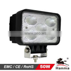 High power led work light, 50w led working light, led light for agricultural, heavy-duty, truck, offroad vehicles