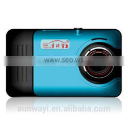 Android 4.4 Quad-core high-speed drive car DVR with 4.5 inch 1080P Full HD capacitive touch screen