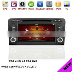 2 din anto gps navigation for AUDI A3 with RDS function for optional