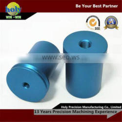color aluminium cnc turned parts,motor bushing tube blue/red cnc turning lathe