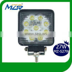 Waterproof IP67 27W LED Driving Worklight 4'' Jeep Offroad Led Work Lights Super Bright Car Working Lamp Outdoor