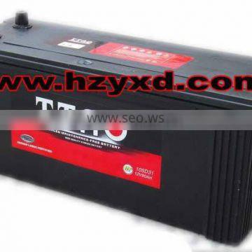 90ah car mf lead acid battery 12v