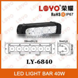 Hot Sale 7.8'' Lightstorm 4*10W Off Road LED Light bar 40W Super Bright LED Light Bar