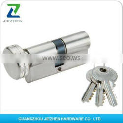 normal computer brass handle length 70mm electric euro profile key door round handle round high security cylinder lock