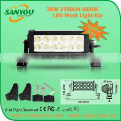 SANYOU 36W Combo LED Work Light Bar Off Road Jeep Boat SUV Truck Tractor ATV Spot LED Work Light Bar