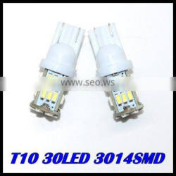 new 2015 hot sales T10 30LED SMD Car Bulb Car Auto LED T10 194 W5W 3014 Wedge Light Bulb Lamp 5SMD White