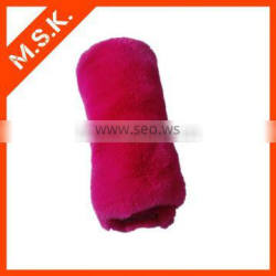 Rose red toy material plush fur fabric