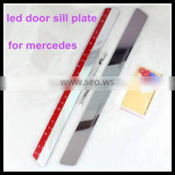 car accessory led door sill scuff plate for mercedes b.enz lights led door sill plate