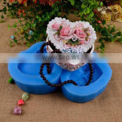Flowers Heart Shape Handmade Jewelry Box Silicon Forms