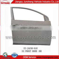 Hot sale metal SUYANG JAC S2 front door car auto parts market