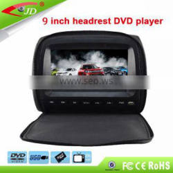 Japanese Hot Sale Universial Car 9 Inch headrest monitor with HD DVD