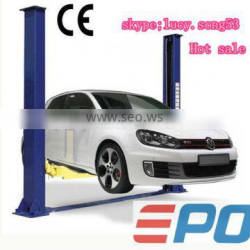 Two post floor plate used car lift for home garage