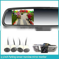 ak2-035lap car rearview mirror monitor germid with Compass&Temp,bluetooth,radar ddetector,automatically reverse diaplay
