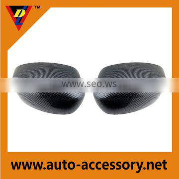 Motor vehicle spare parts carbon fiber mirror cover for dodge charger
