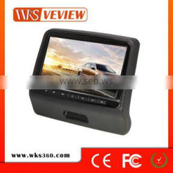High quality 9 inch car hadrest monitor with wireless game and usb sd slot functions