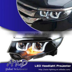 AKD Car Styling for Ford EDGE LED Headlights A-Type 2012-2014 EDGE LED Head Lamp Projector Bi Xenon Hid H7