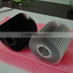 Factory supply low price round anodized 6063 T5 aluminum extrusion aluminum heat sink