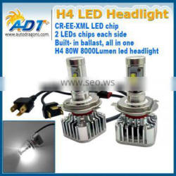 2016 Hot selling H4/9007/9004/H7/H8/H9/H10/H11/9005/9006 80W h7 automotive lamps