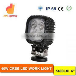DDL Car accessories 40W round work light with 4inch 5400lumen led work light for cars