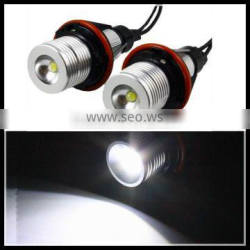 xenon white halo rings light for bmw e39 led head lamp bulb LED marker headlight E39 3W 5W for BMW E39 E53 E60 LED angel eyes