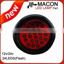 USA 4 inch round led truck trailer tail light 12v led bus 24v tail indicator light led tail light
