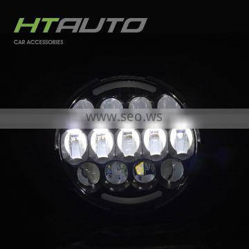 HTAUTO 2016 New 7 inch Round Led Headlight, Used for Trauck and Jeep Accessories 7 inch Round Led Headlight 12V 24V