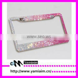 Fade color Bling License Plate Frame Car accessories Auto OEM Girly gift