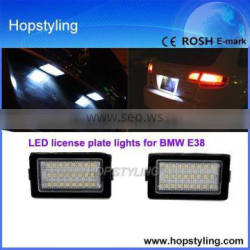 auto light china factory LED license plate lamp for BMW E38 license plate light canbus No error code