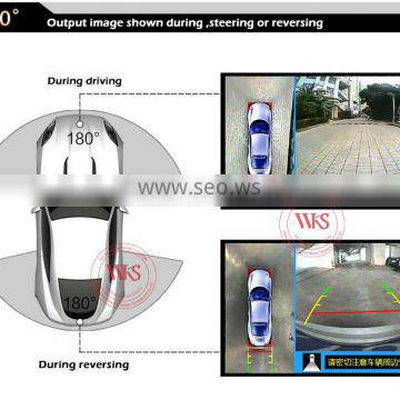360degree car bird view with parking assistant sytem
