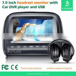 "Touch screen 7"" HD Digital Screen Car Headrest Monitor + DVD/USB/SD Player"