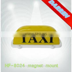 12V White Taxi Roof Box Light Taxi Roof Advertising Box